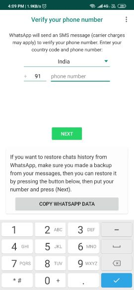 GBWhatsApp Download install