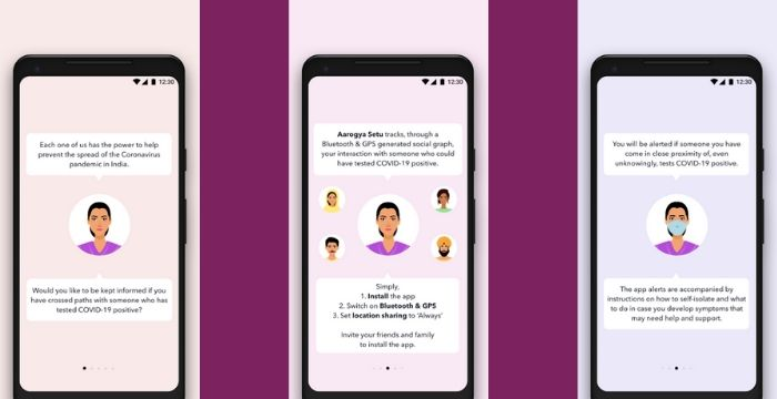 Aarogya setu app Screenshot