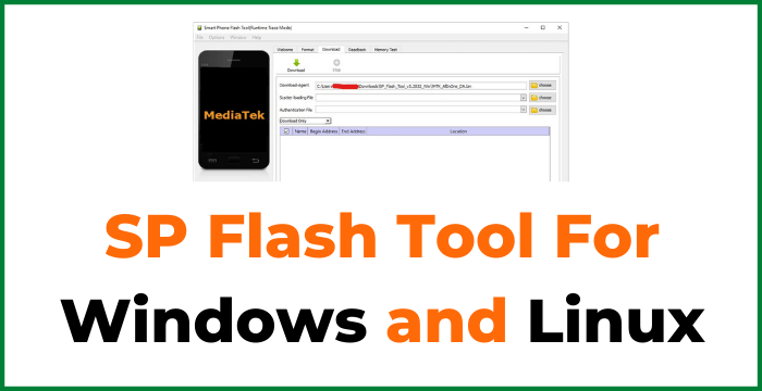 SP Flash Tool For Windows and Linux